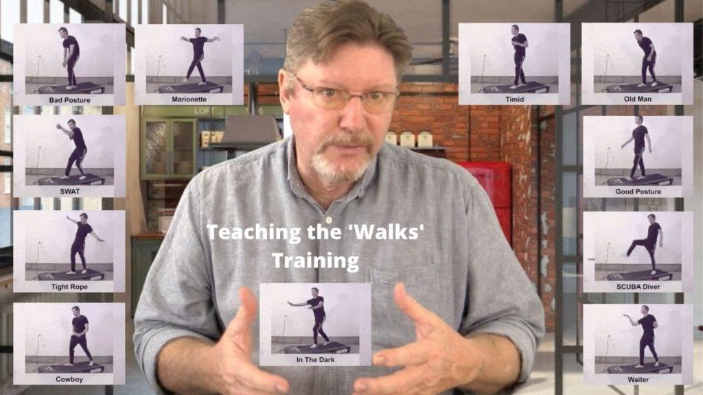 'The Walks' teaching tips for Commedia training.